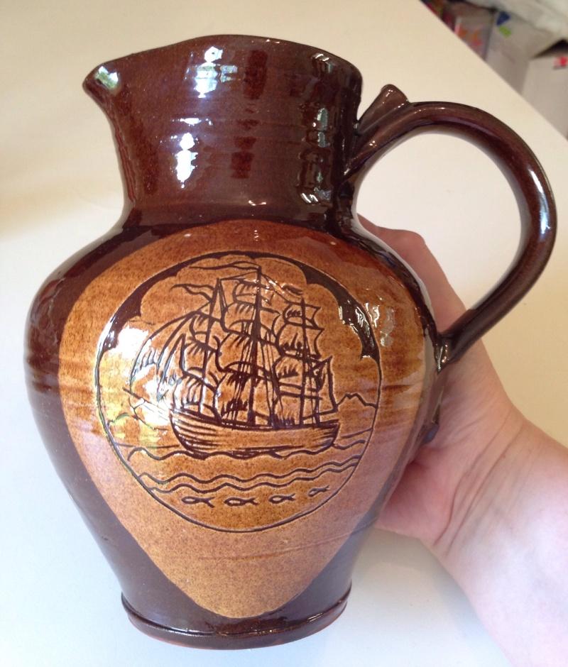 Sgraffito ships jug - BR mark Image495