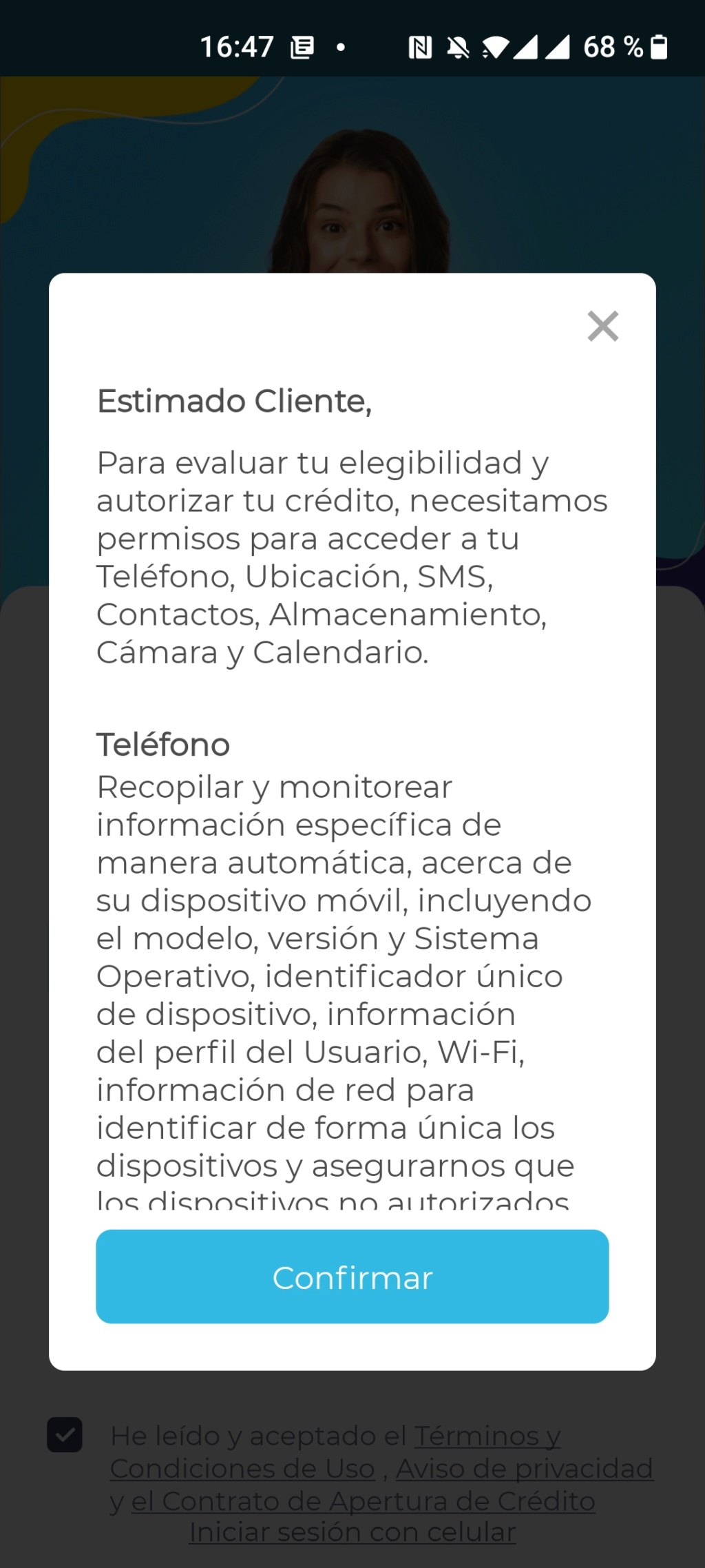Estos son todos los permisos que le das a una App (Fintech de préstamos en línea)  Screen12
