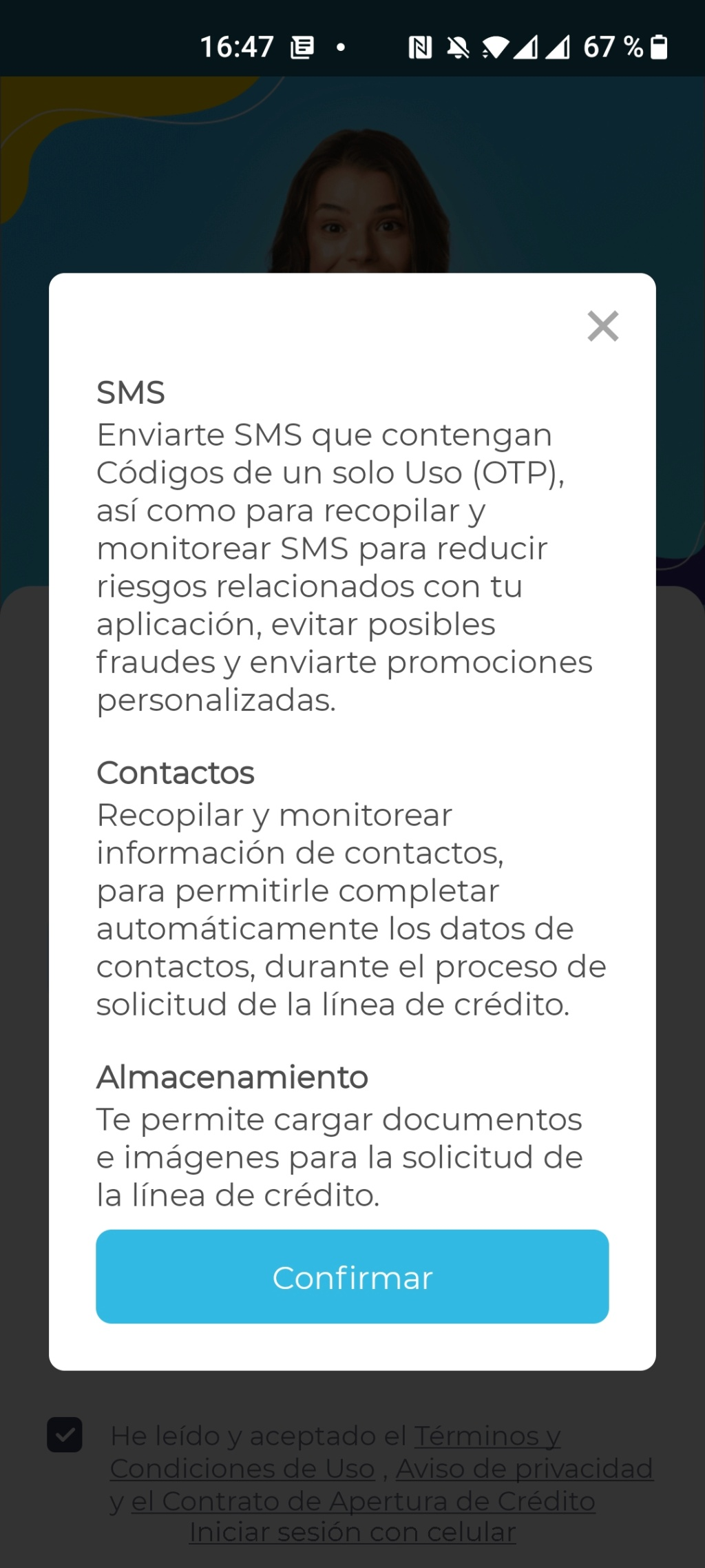 Estos son todos los permisos que le das a una App (Fintech de préstamos en línea)  Screen14