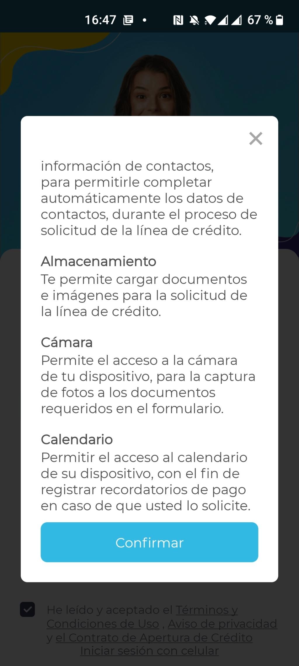 Estos son todos los permisos que le das a una App (Fintech de préstamos en línea)  Screen15