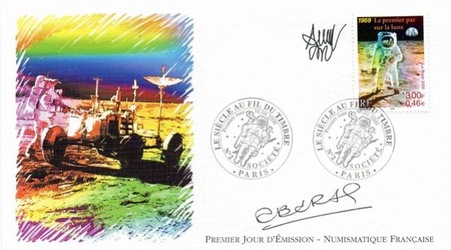 Astrophilatélie - Timbre Apollo 11 émis par la France le 30 septembre 2000 2000_012