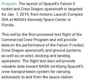 3 août 2018 : Nomination des équipages pour les premiers vols du Starliner et du Crew Dragon 2018-111