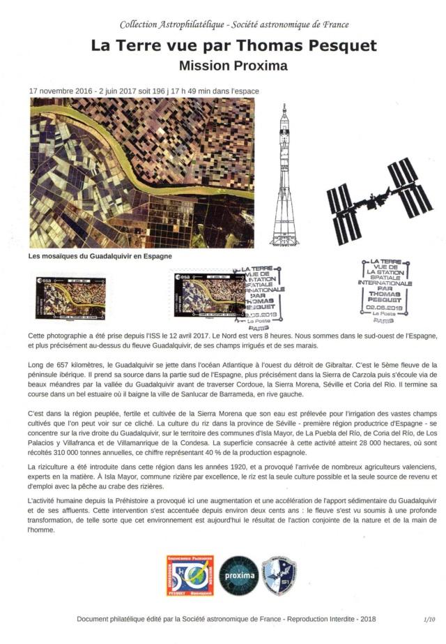 Carnet de timbres Thomas Pesquet - 4 juin 2018 2018_017