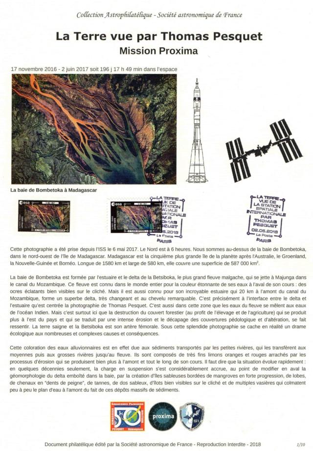 Carnet de timbres Thomas Pesquet - 4 juin 2018 2018_020