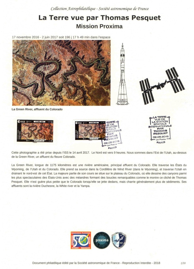 Carnet de timbres Thomas Pesquet - 4 juin 2018 2018_023