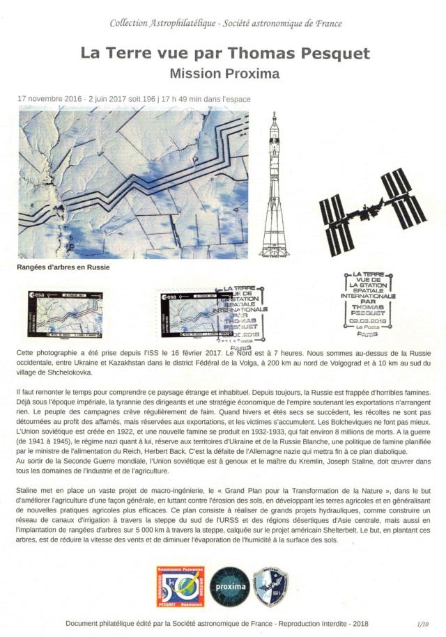 Carnet de timbres Thomas Pesquet - 4 juin 2018 2018_024
