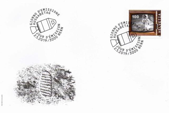 [Philatélie 50 ans Apollo 11] Emission d'un timbre par la Suisse / mai 2019 2019_011