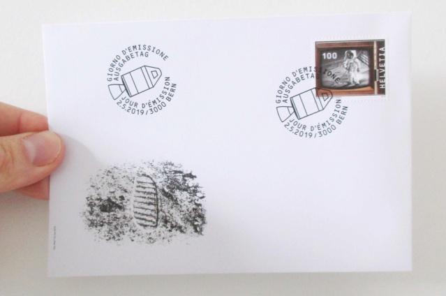 [Philatélie 50 ans Apollo 11] Emission d'un timbre par la Suisse / mai 2019 2019_017