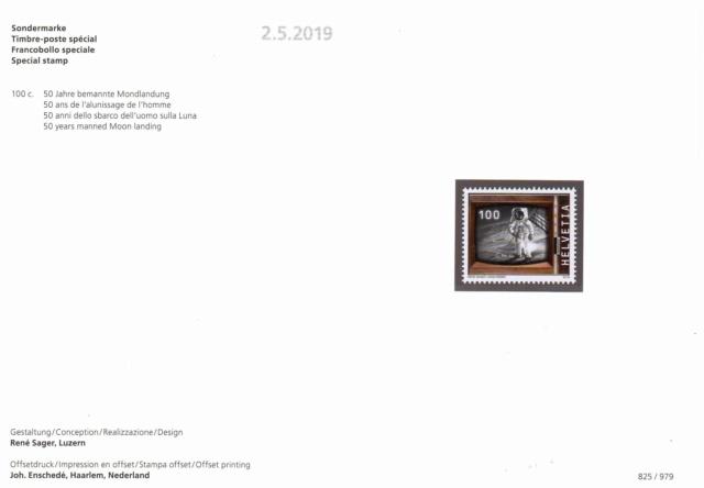 [Philatélie 50 ans Apollo 11] Emission d'un timbre par la Suisse / mai 2019 2019_025