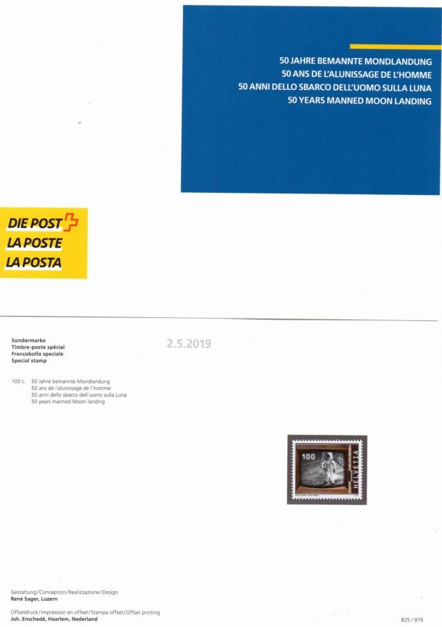 [Philatélie 50 ans Apollo 11] Emission d'un timbre par la Suisse / mai 2019 2019_026