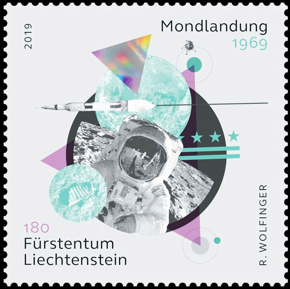 [Philatélie 50 ans Apollo 11] Emission d'une paire de timbres au Liechtenstein - Juin 2019 2019_047