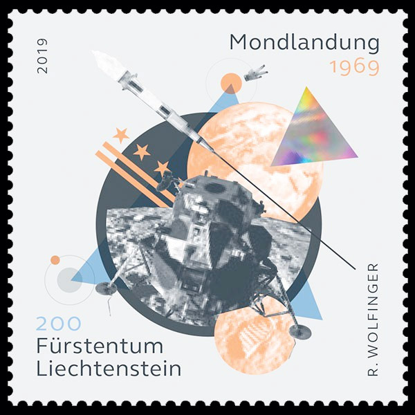 [Philatélie 50 ans Apollo 11] Emission d'une paire de timbres au Liechtenstein - Juin 2019 2019_048