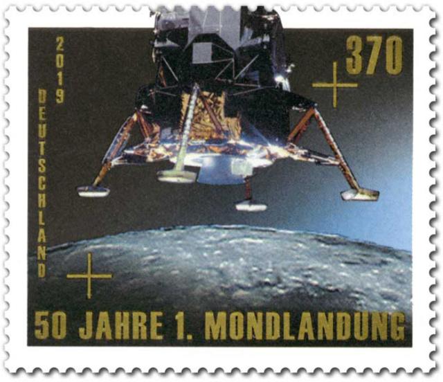 [Philatélie 50 ans Apollo 11] Emission de deux timbres en Allemagne  - Juillet 2019 2019_049