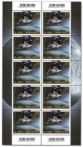[Philatélie 50 ans Apollo 11] Emission de deux timbres en Allemagne  - Juillet 2019 2019_052