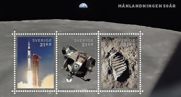 [Philatélie 50 ans Apollo 11] Emission d'un bloc-feuillet par la Suède / mai 2019 24346914