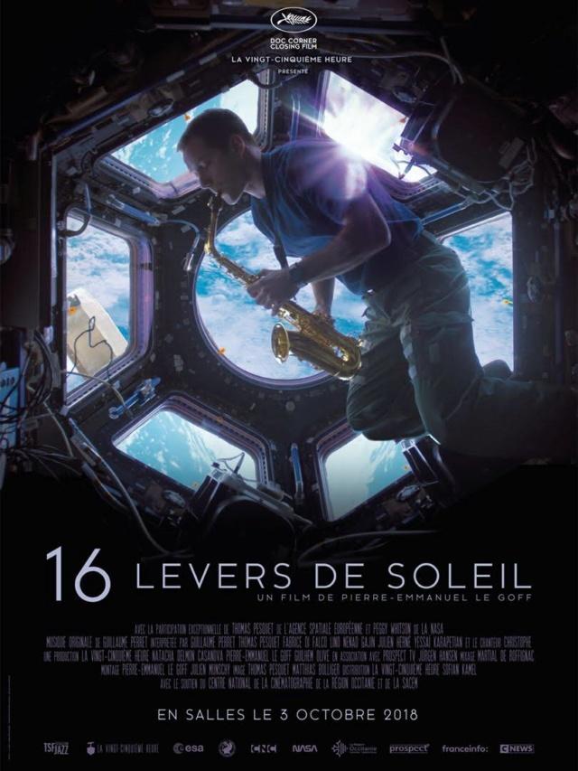 16 levers de Soleil - par Pierre-Emmanuel Le Goff (et Thomas Pesquet) - Sortie nationale le 3 octobre 2018 Affich10
