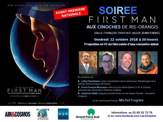 """""""First Man"""" - avant-première française le 12 octobre 2018 à Ris-Orangis (91) Cinoch10"""
