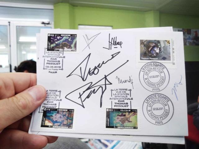 Carnet de timbres Thomas Pesquet - 4 juin 2018 D9ri-810