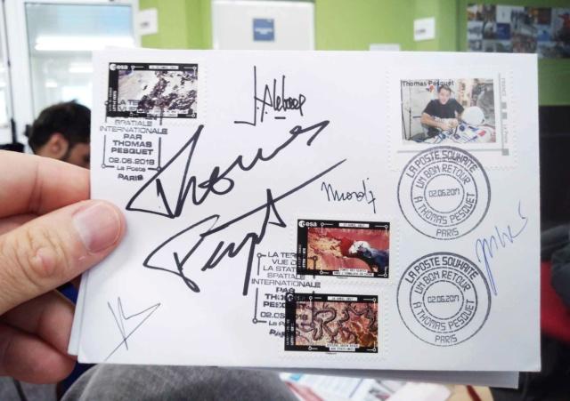 Carnet de timbres Thomas Pesquet - 4 juin 2018 D9ri_k10