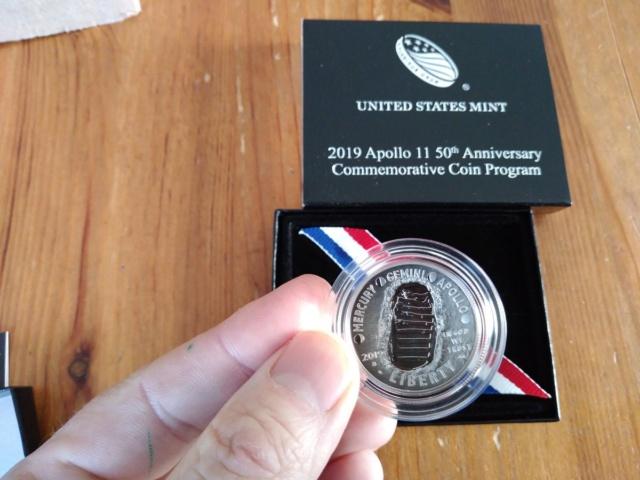 Pièce de 1$ argent commémorant les 50 ans d'Apollo 11/ mise en circulation en janvier 2019 Dyp-ul10