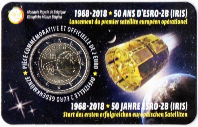 Belgique / Pièce de 2 uros 50 ans satellite ESRO-2B Img32210