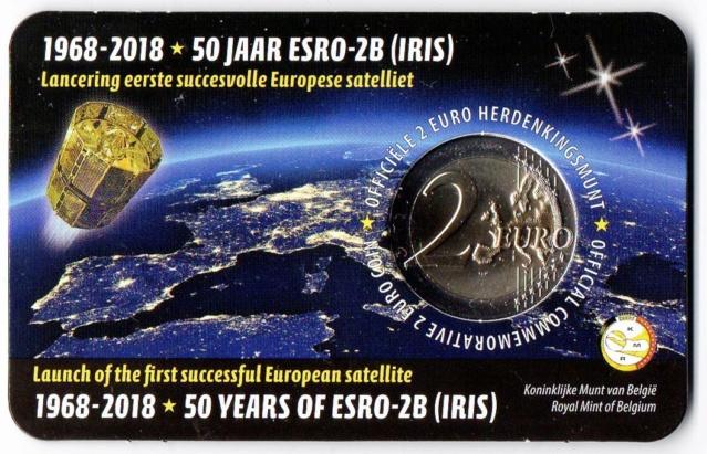Belgique / Pièce de 2 uros 50 ans satellite ESRO-2B Img32310