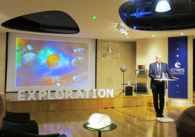 Interview de Jean-Yves Le Gall, Président du CNES, pour Space Quotes - Souvenirs d'espace Img_7416