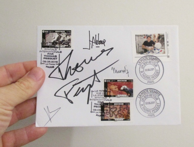 Carnet de timbres Thomas Pesquet - 4 juin 2018 Img_7512