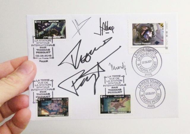 Carnet de timbres Thomas Pesquet - 4 juin 2018 Img_7514