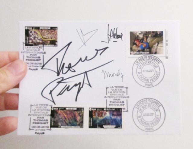 Carnet de timbres Thomas Pesquet - 4 juin 2018 Img_7515
