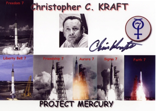 Disparition de Chris C. Kraft, Jr (1924-2019), le 1er Flight Director de la NASA Mercur11
