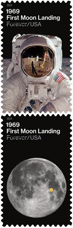 [Philatélie 50 ans Apollo 11] USA 2019 : deux timbres seront émis en juillet 2019 Stef_112