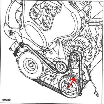 Galet tendeur de courroie d/'accessoire Renault Megane 1.9 DCI