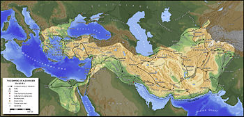 Map of Alexander the Great's Empire Alexan10