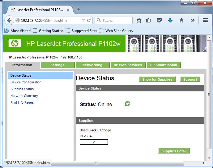 Cài đặt HP LaserJet P1102w để in qua mạng không dây Screen10