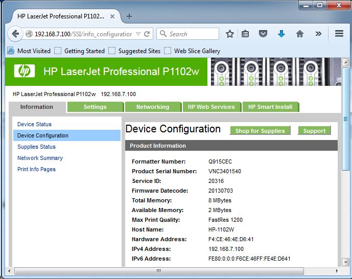 Cài đặt HP LaserJet P1102w để in qua mạng không dây Screen11