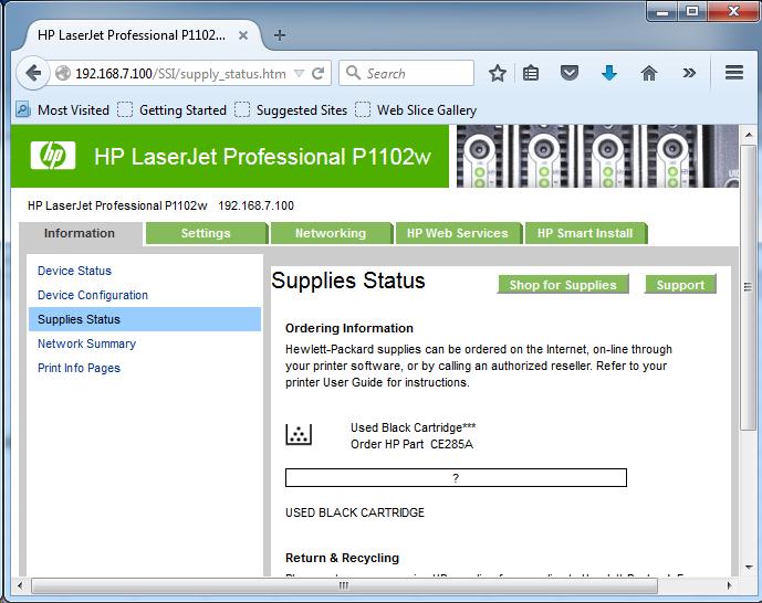Cài đặt HP LaserJet P1102w để in qua mạng không dây Screen12