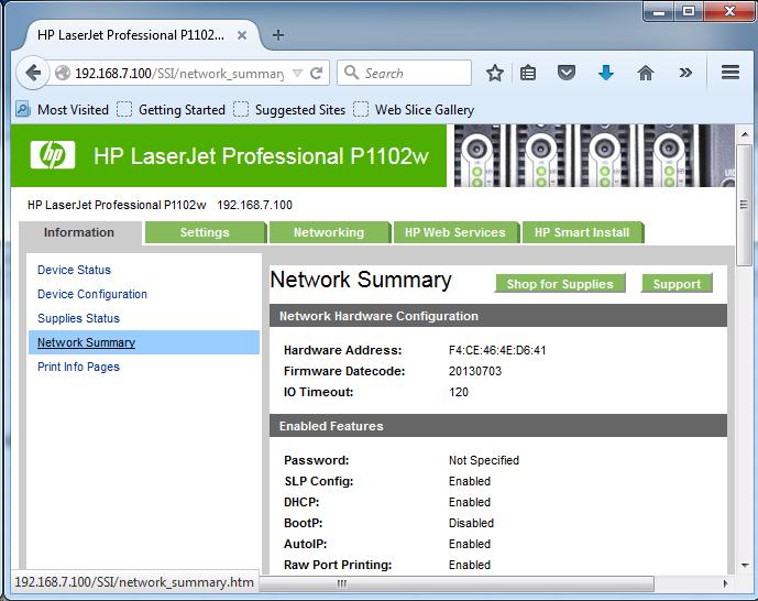 Cài đặt HP LaserJet P1102w để in qua mạng không dây Screen13