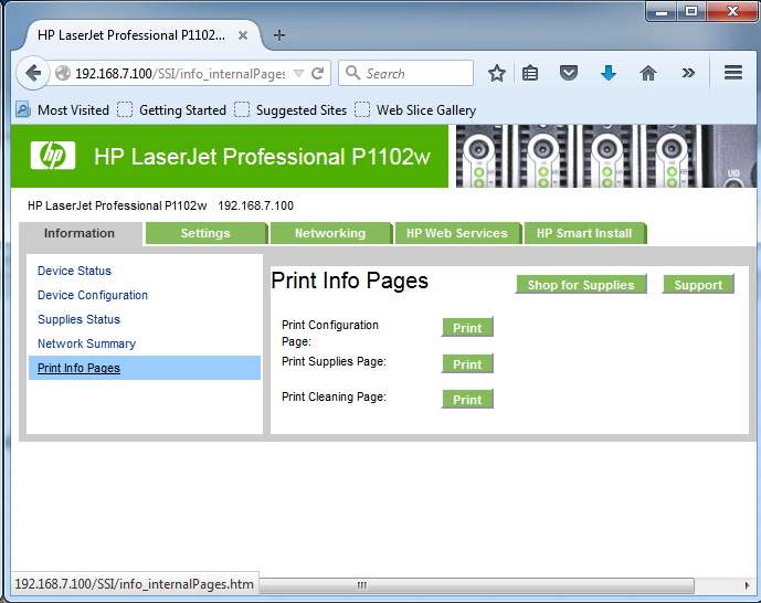 Cài đặt HP LaserJet P1102w để in qua mạng không dây Screen14