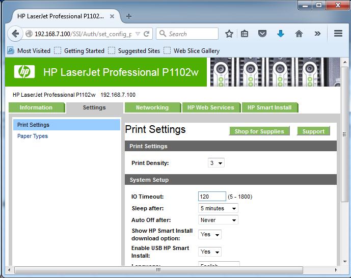 Cài đặt HP LaserJet P1102w để in qua mạng không dây Screen15