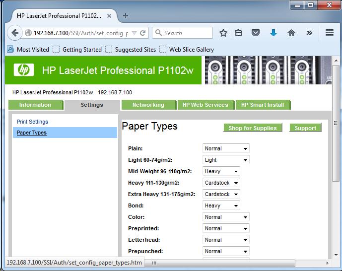 Cài đặt HP LaserJet P1102w để in qua mạng không dây Screen16