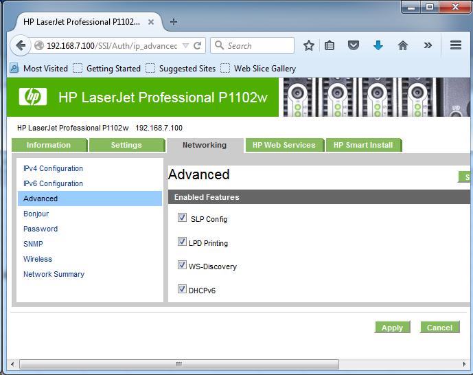Cài đặt HP LaserJet P1102w để in qua mạng không dây Screen19