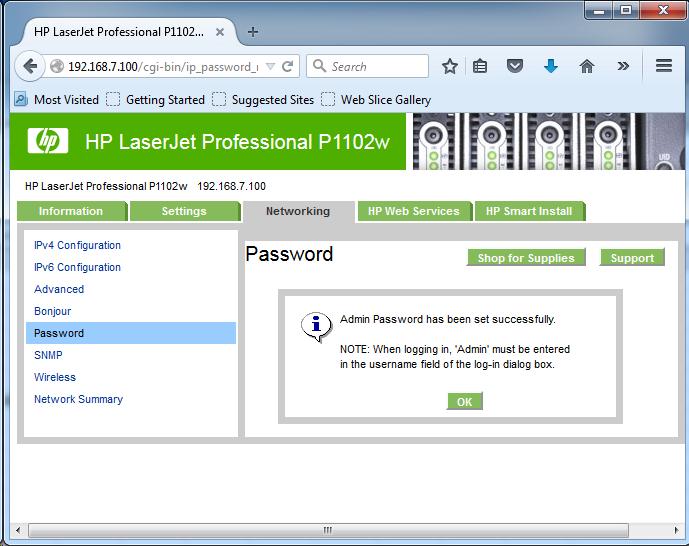 Cài đặt HP LaserJet P1102w để in qua mạng không dây Screen22