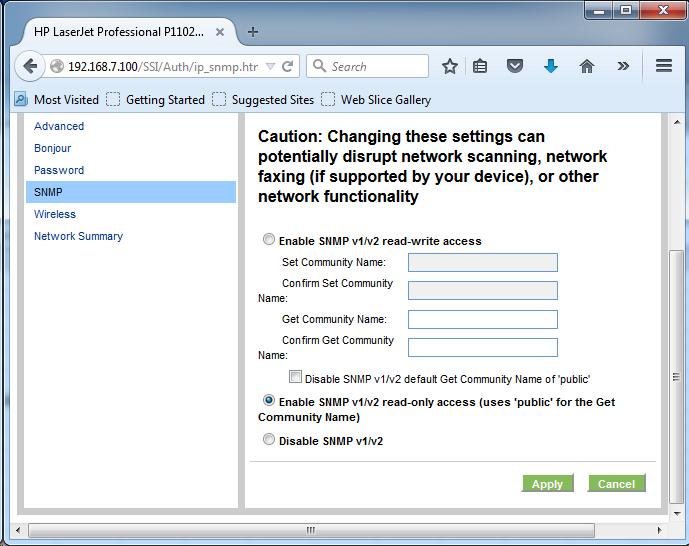 Cài đặt HP LaserJet P1102w để in qua mạng không dây Screen23