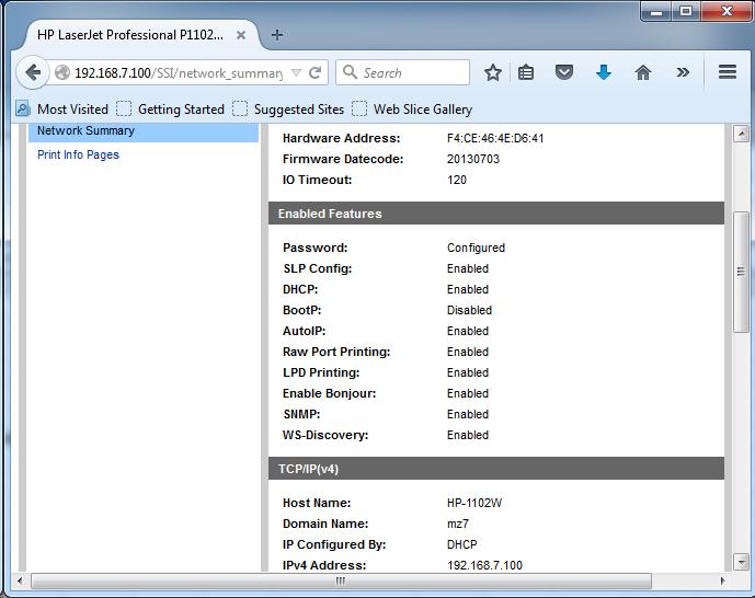 Cài đặt HP LaserJet P1102w để in qua mạng không dây Screen25