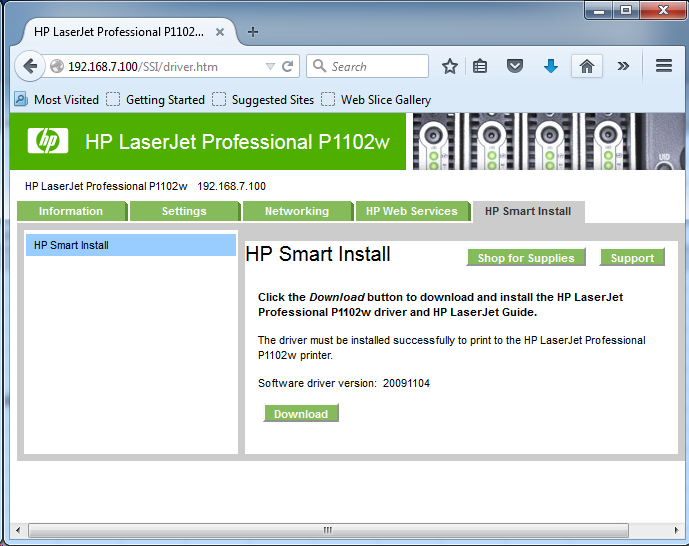 Cài đặt HP LaserJet P1102w để in qua mạng không dây Screen26