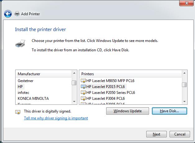 Cài đặt HP LaserJet P1102w để in qua mạng không dây Screen38