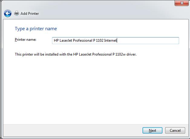 Cài đặt HP LaserJet P1102w để in qua mạng không dây Screen45