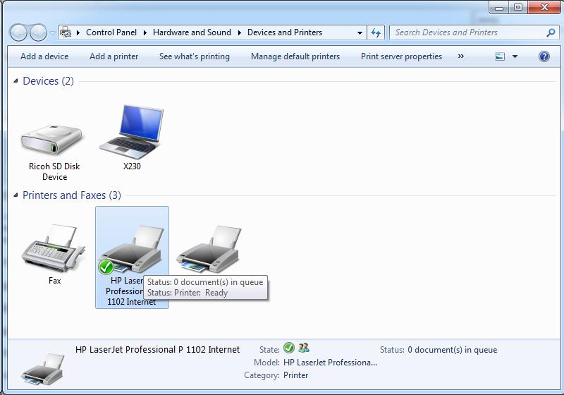 Cài đặt HP LaserJet P1102w để in qua mạng không dây Screen55