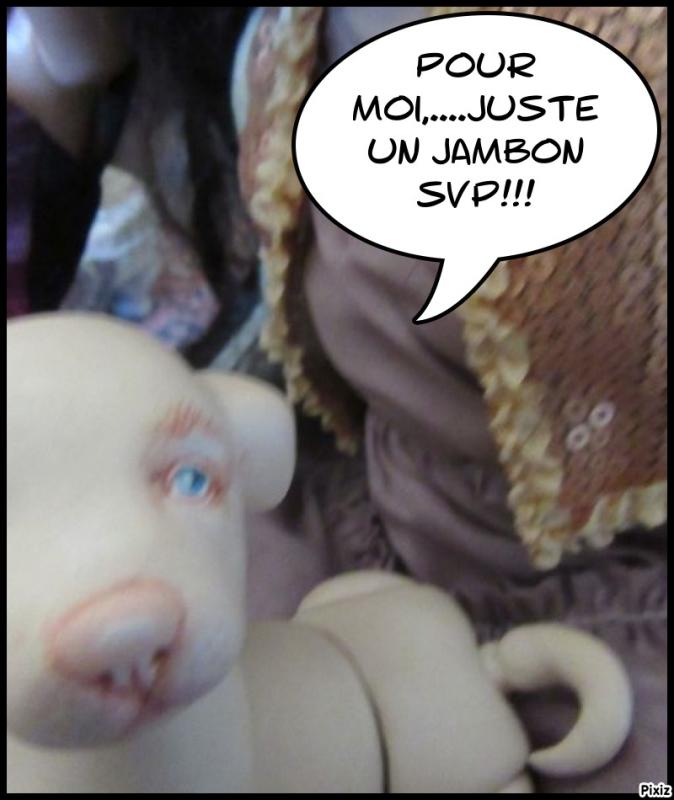 """Bertille offre notre """" cadeau""""...aie, aie!!! Jambon11"""